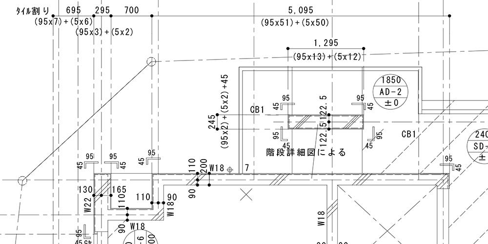 タイル割図 施工図 代行 作成
