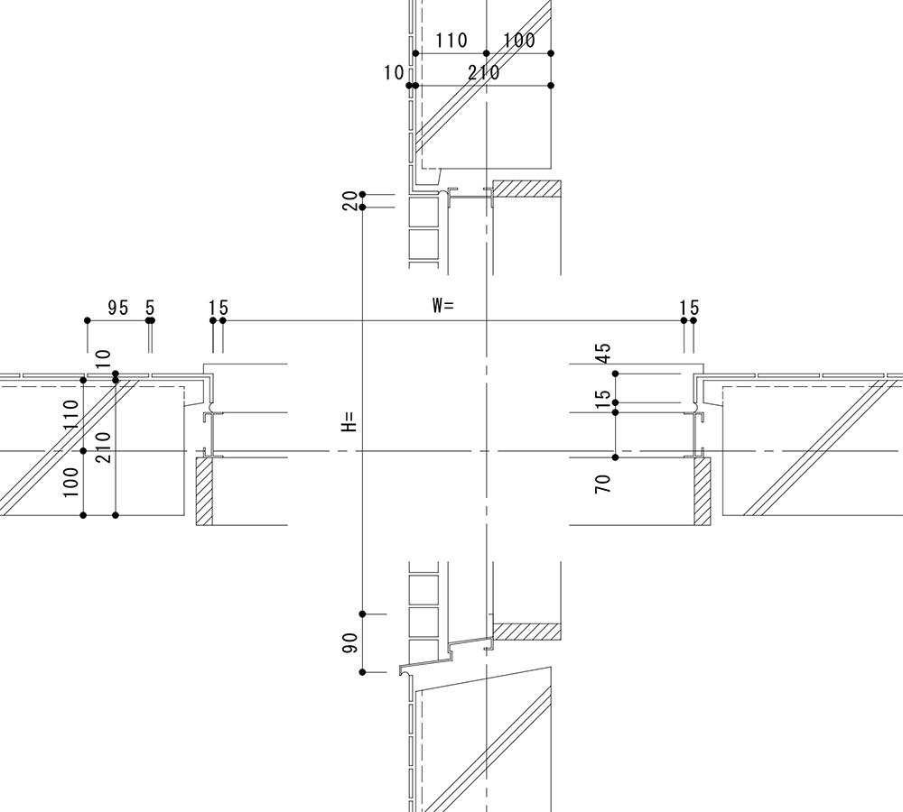 タイル割図 施工図 代行 開口部