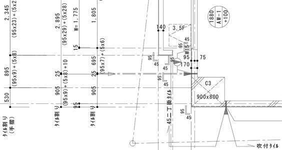 タイル割図 施工図